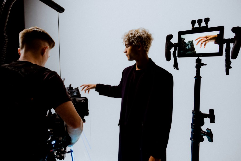 behind the scenes of the video